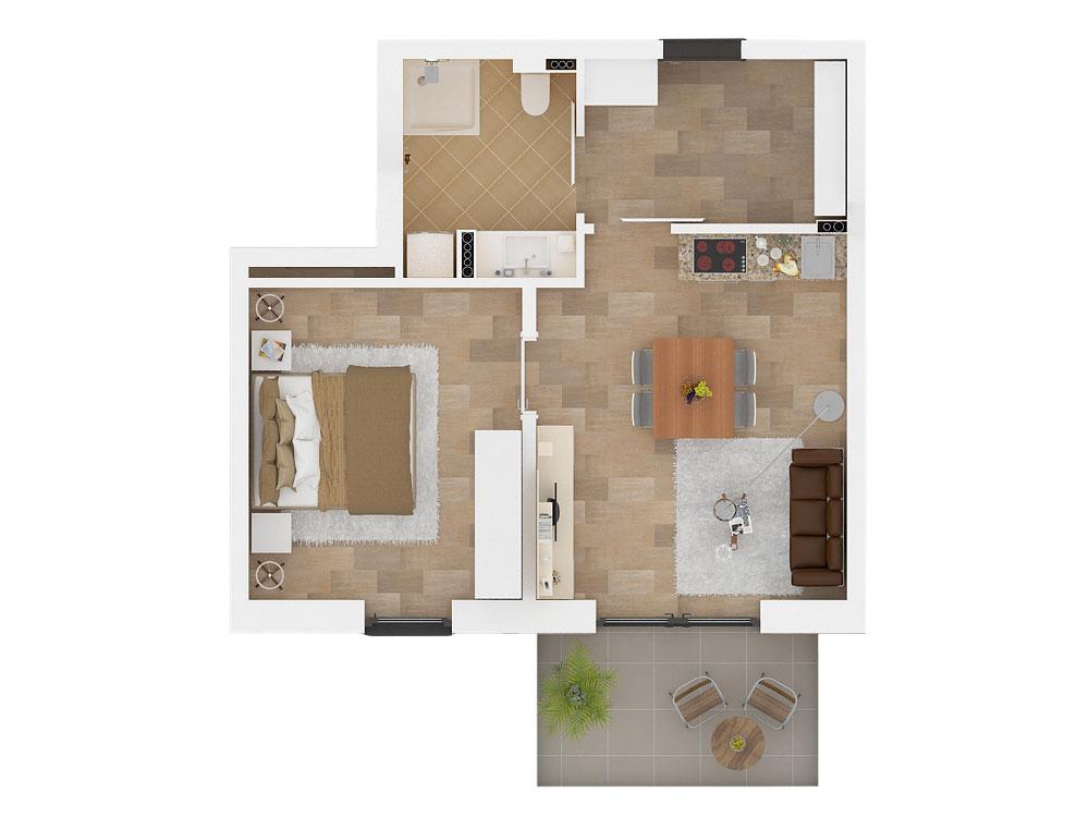 Wohnungstyp Clematis