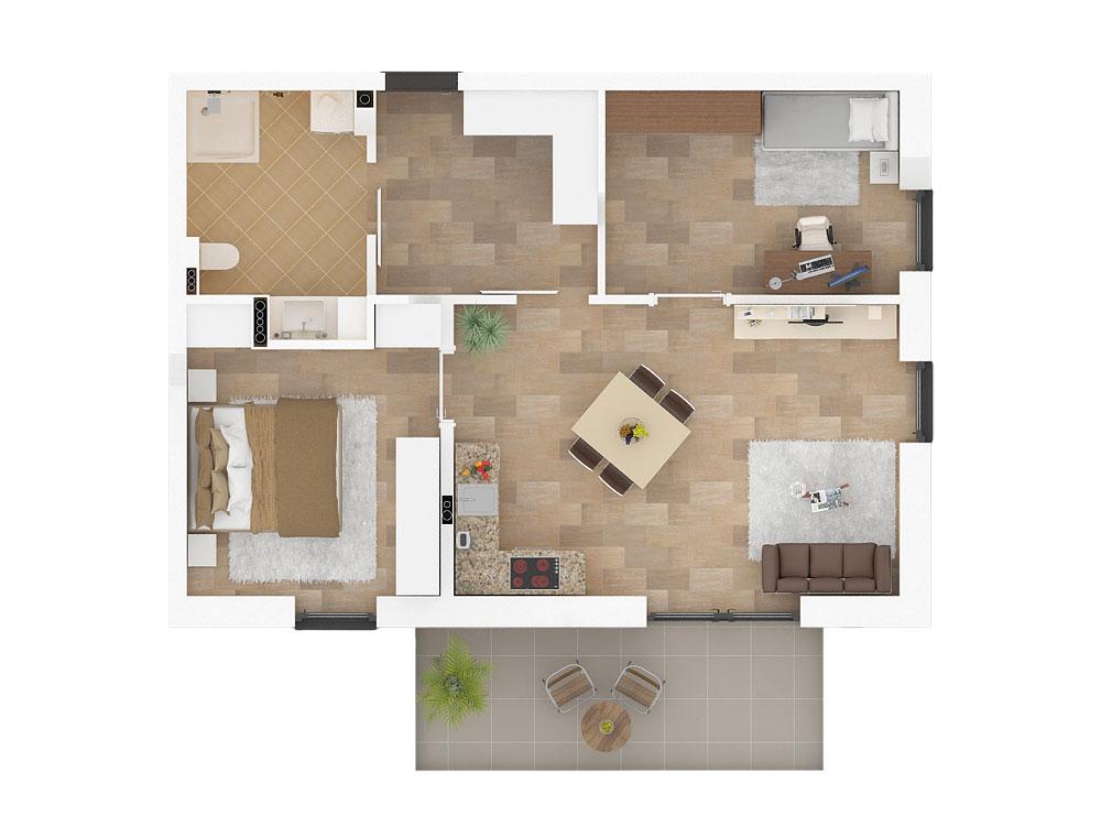 Wohnungstyp Flieder